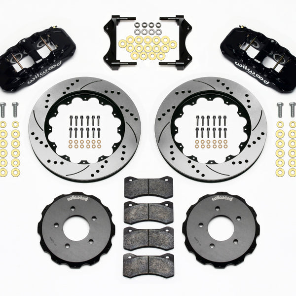 Wilwood AERO6 Front Hat Kit 14.00 Drilled 99-06 BMW E46