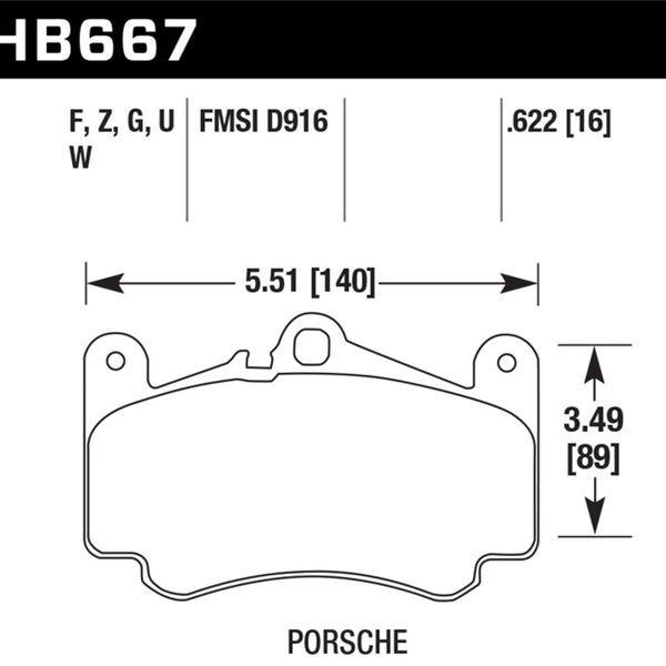 Hawk DTC-80 99-12 Porsche 911 996/997 Front Race Brake Pads