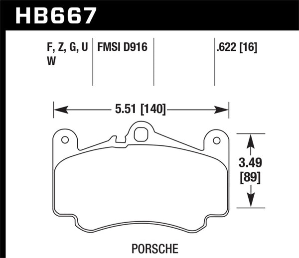 Hawk 02-08 Porsche 911 Carrera 4 Turbo Look/Carrera 4S/01-05 911 Turbo Front DTC-30 Race Brake Pads