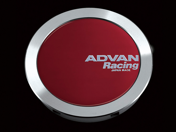 Advan 63mm Full Flat Centercap - Candy Red