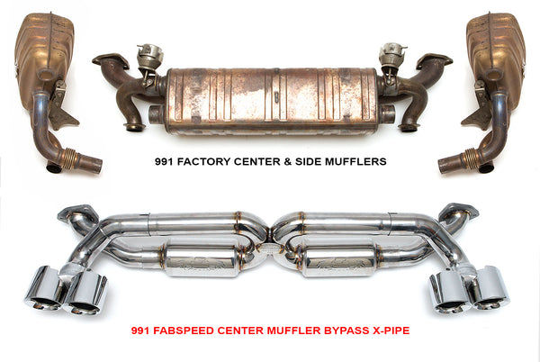 Fabpseed Porsche 991 Carrera Supersport X-Pipe Exhaust System (2012-2016)