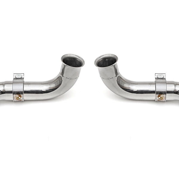 Fabpseed Porsche 996 GT3 Competition Muffler Outlets w/ Adjustable Turndowns
