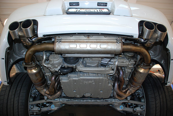 Fabpseed Porsche 997.2 Carrera Side Muffler Bypass Pipes (2009-2011)