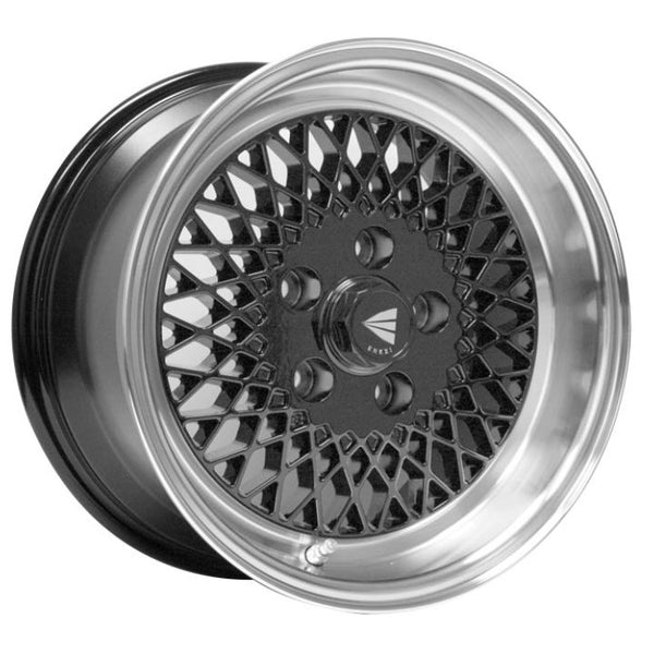 Enkei92 Classic Line 15x7 38mm Offset 4x100 Bolt Pattern Black Wheel