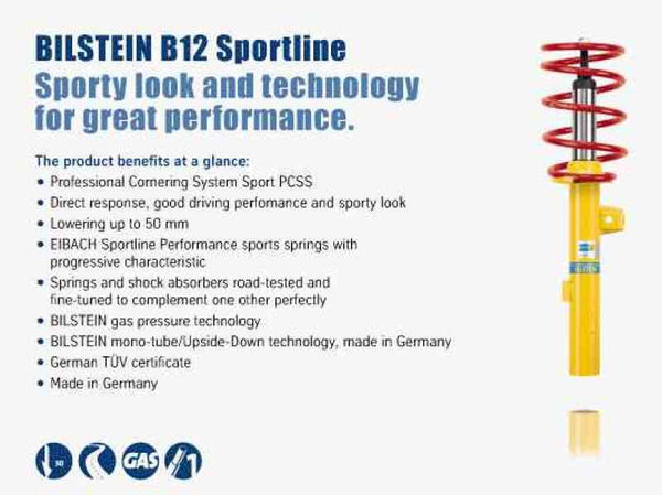 Bilstein B12 2004 BMW 525i Front and Rear Suspension Kit