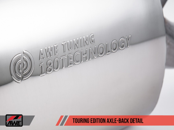 AWE Tuning BMW F3X 28i / 30i Touring Edition Axle-Back Exhaust Single Side - 80mm Black Tips