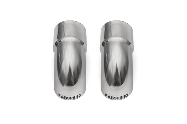 "Fabpseed Porsche Competition Slip-On Turndown Tips (2.375"" / 60.3 mm ID) - Fabspeed Exhausts Only"