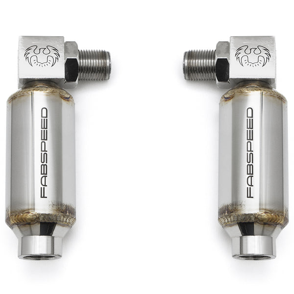 Fabpseed Universal 90 Degree O2 Spacers with Catalytic Converters - Pair