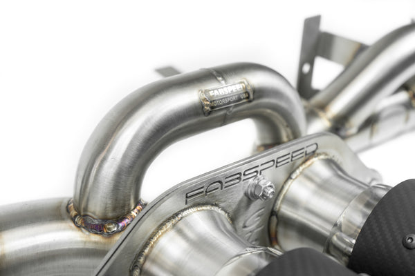 Fabpseed Porsche 997 GT3 / GT3 RS Center Muffler Bypass Pipe