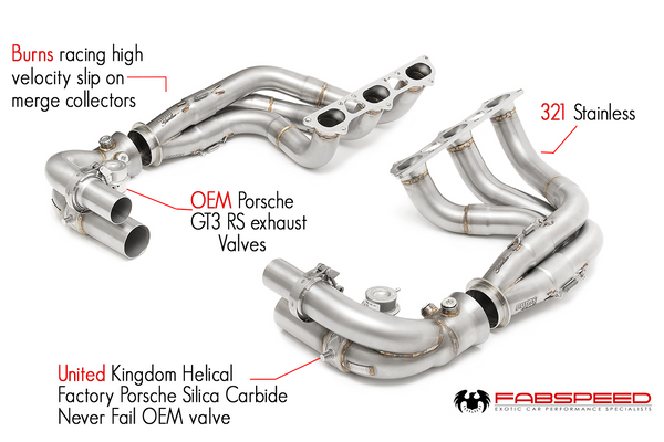 Fabpseed Porsche 991.2 GT3 / GT3 RS Long Tube Competition Race Header System (2017+)