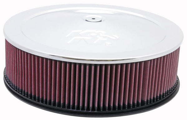 K&N Universal Custom Air Filter - Round 7-5/16in. Flange / 14in. OD / 12in. ID / 5.5in. Height
