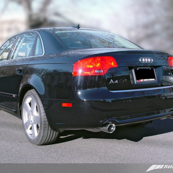 AWE Tuning Audi B7 A4 3.2L Touring Edition Dual Tip Exhaust - Polished Silver Tips