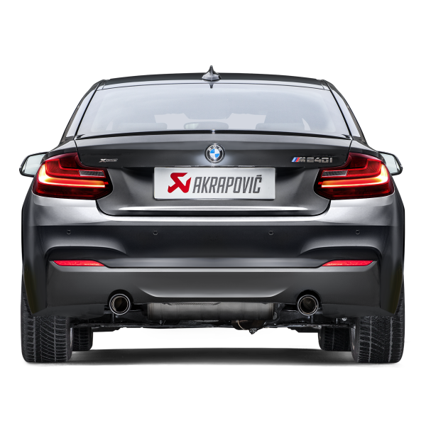 Akrapovic 16-17 BMW M240i (F22 F23) Evolution Line Cat Back (SS) w/ Carbon Tips (Req. Link Pipe)