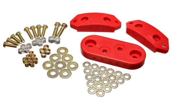 Energy Suspension 61-73 VW Beetle/70-73 Super Beetle Red Motor and Trans Mount Bushings (Inc H/W)