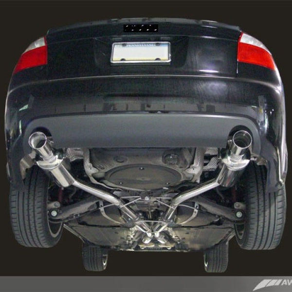AWE Tuning Audi B6 A4 3.0L Track Edition Exhaust - Polished Silver Tips
