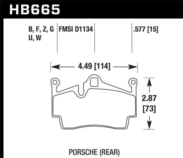 Hawk 05-14 Porsche Boxter/07-14 Cayman DTC-30 Rear Brake Pads