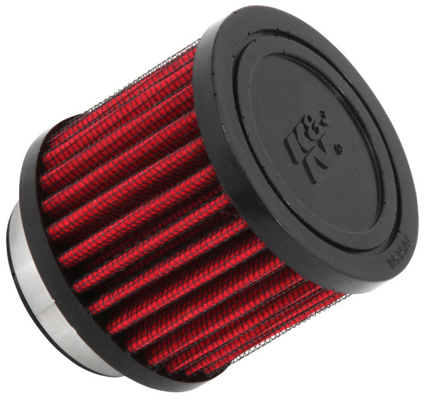 K&N 1.75 inch Vent 3 inch D 2.5 inch H Air Filter - Rubber Top