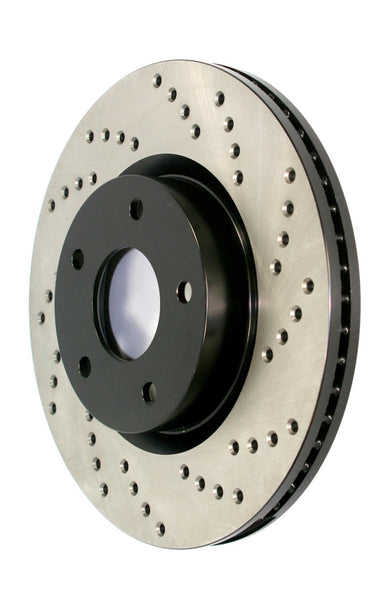 StopTech 07-16 Mini Cooper Sport Cryo Drilled Rear Left Rotor