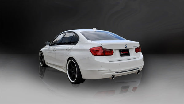 Corsa 12-14 BMW 335i Sedan RWD F30 3in Polished Touring Dual Rear Single 3.5in Tip Cat-Back Exhaust