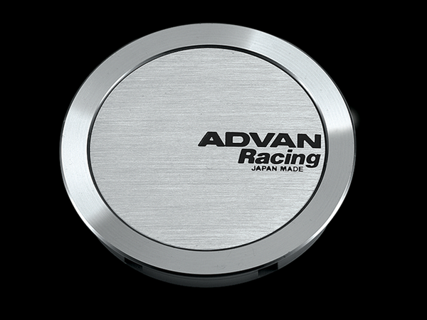 Advan 63mm Full Flat Centercap - Silver Alumite