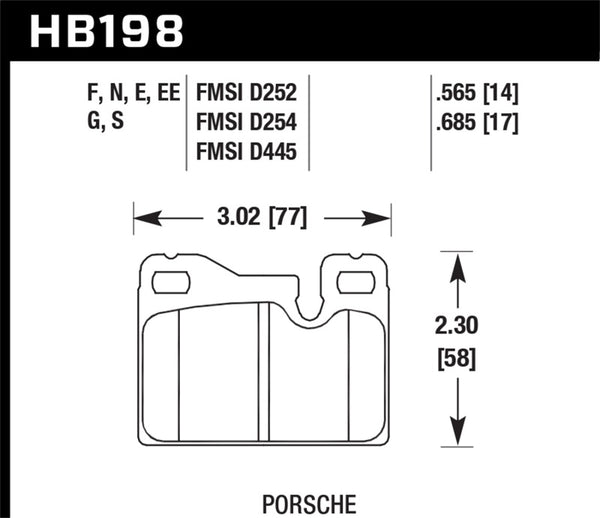 Hawk 77-88 Porsche 924 / 78-85 & 92-95 928 / 83-91 944 DTC-60 Rear Race Brake Pads
