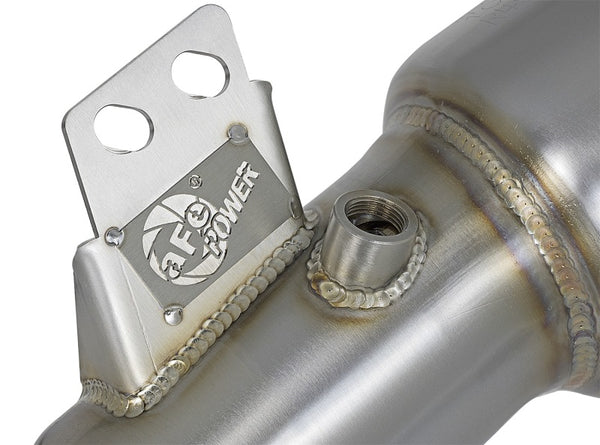 aFe Twisted Steel Down-Pipe Street Series 16-17 BMW 340i/440i (F3X) L6-3.0L / 2019+ Toyota Supra