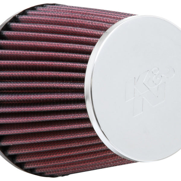 K&N Universal Chrome Filter - Round Tapered 3in Flange ID / 4.5in Base OD / 3.5in Top OD / 4.313in H