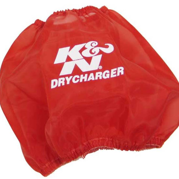 K&N Round Tapered Drycharger Air Filter Wrap Red 7.5in Base ID / 4.5in Top ID / 6in Height