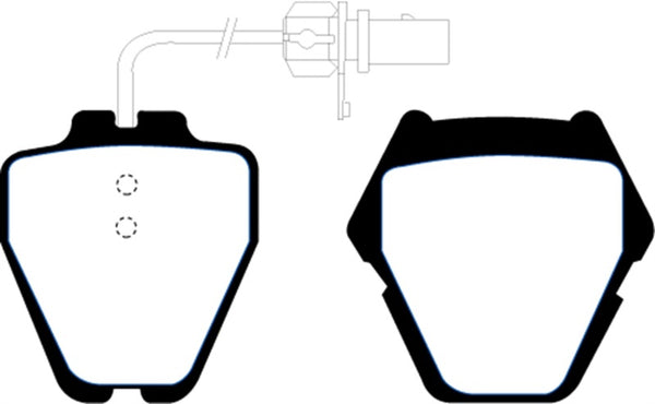 EBC 99-01 Audi A6 Quattro 2.7 Twin Turbo Sedan (8 Pad Set) Yellowstuff Front Brake Pads