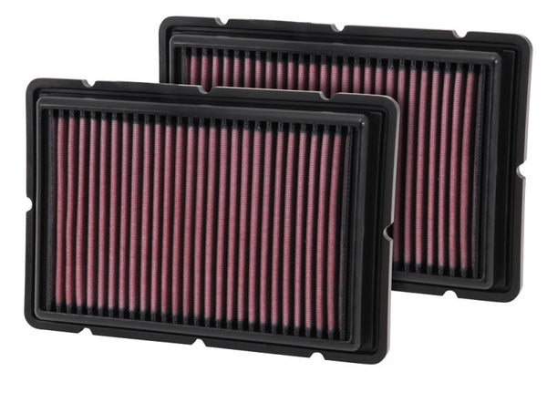 K&N Replacement Air Filter 05-09 Ferrari F360 11.125in O/S Length x 7.625 O/S Width x 1.313in H