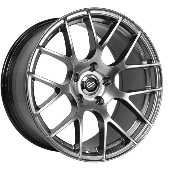 Enkei Raijin 18x8.5 35mm Offset 5x114.3 Bolt Pattern 72.6 Bore Diameter Hyper Silver Wheel