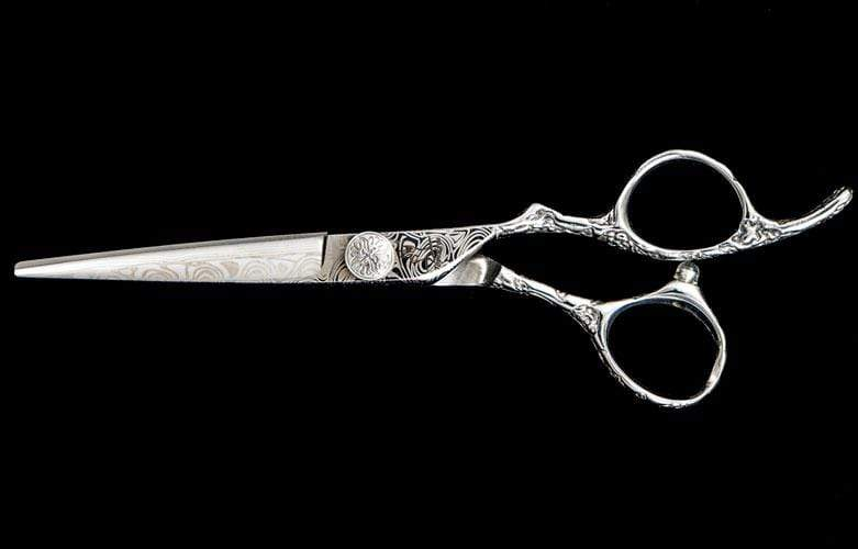 "6"" Limited Edition Damascus Patterned Hair Shear - TopEdgeShears"