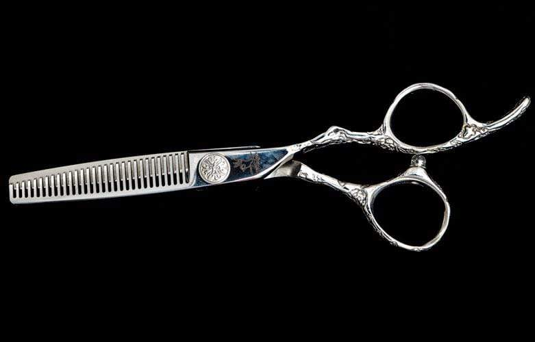 "6"" Limited Edition Rose Handle Thinning Shear, 29 Tooth - TopEdgeShears"