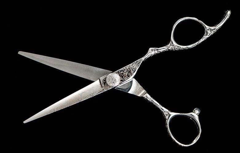 "5.5"" Limited Edition Damascus Patterned Hair Shear - TopEdgeShears"