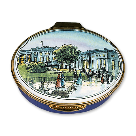 White House 1902 Enamel Box-Closed