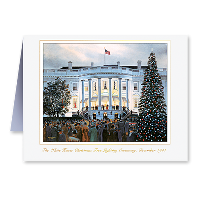 The White House Tree Lighting Ceremony, 1941, Christmas Card Set
