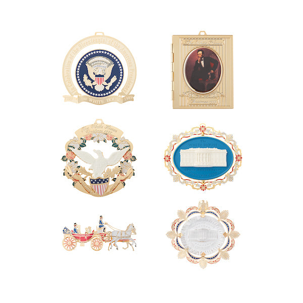 White House Christmas Ornament Set: 1989, 1998-2002