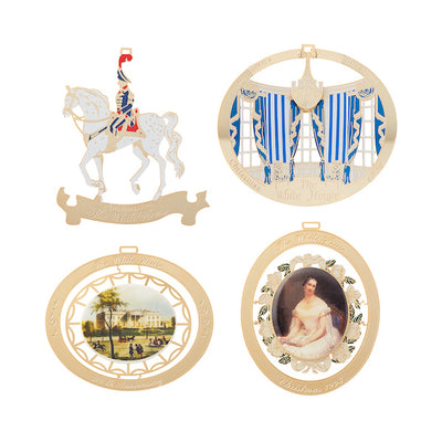 1990 to 1993 White House Christmas Ornaments, Sold as a Set of Four