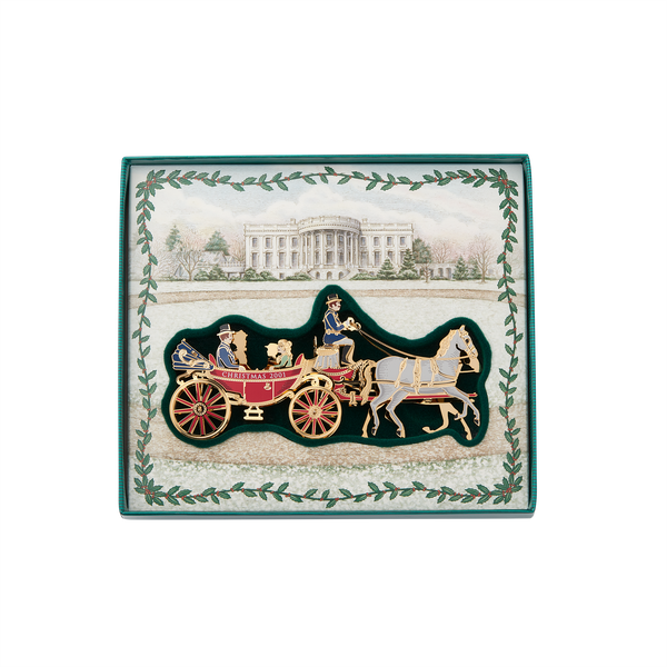 White House Historical Association Christmas Ornament 2001 Carriage White Horse1