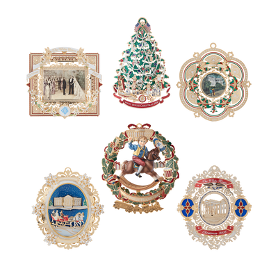 White House Christmas Ornament Set: 2003-2008