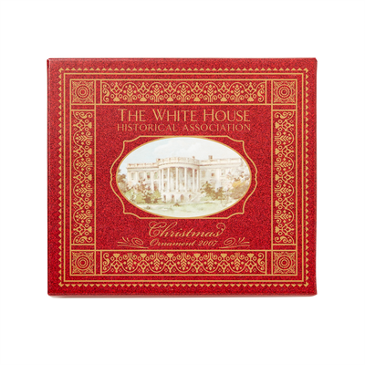 2007 White House Christmas Ornament, A President Marries in the White House-Box with Lid