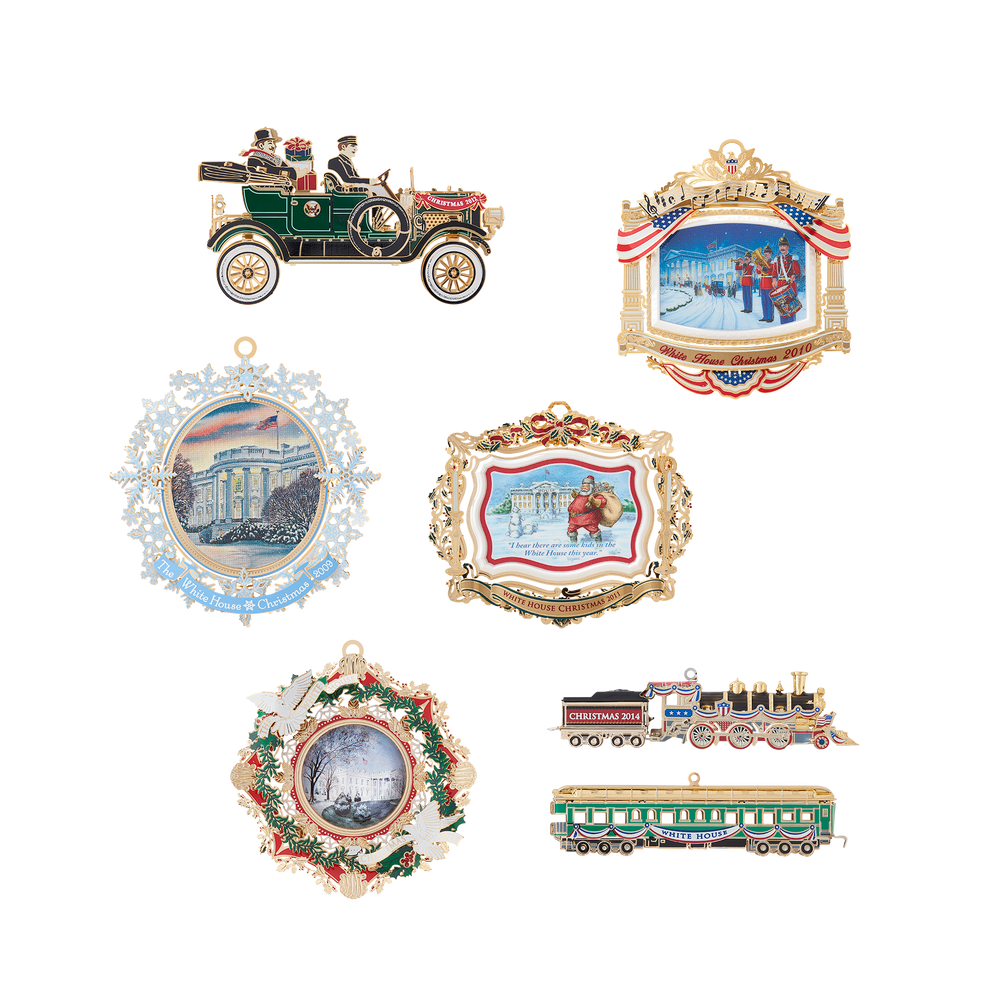 White House Christmas Ornament Set: 2009-2014