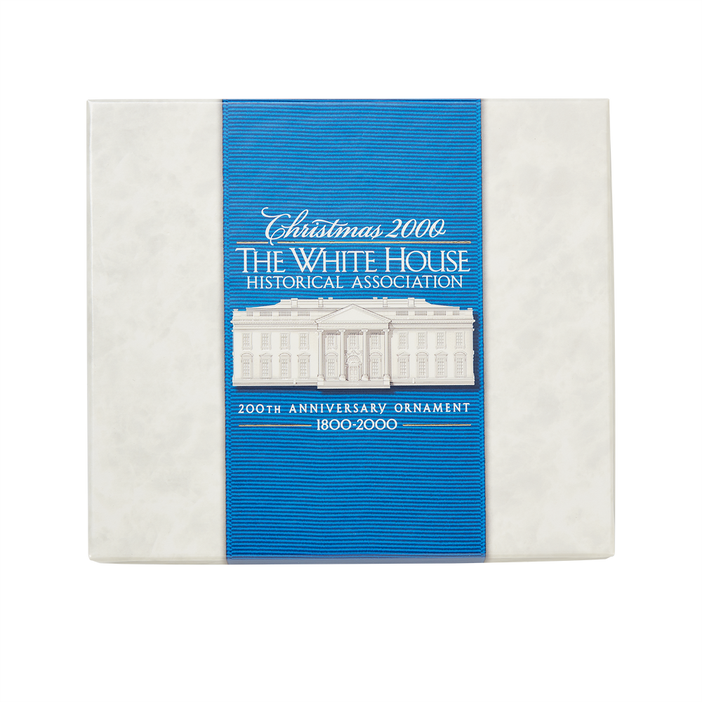 2000 White House Christmas Ornament, 200th Anniversary of the White House-Box with Lid