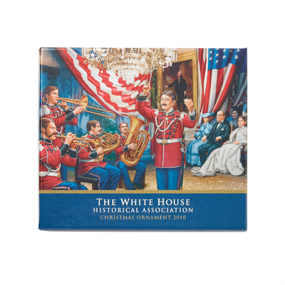 2010 White House Christmas Ornament, The U.S. Marine Band-Box with Lid