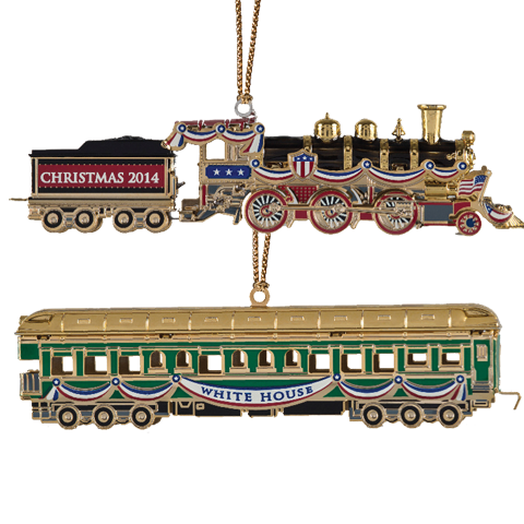 2014 White House Christmas Ornament-Front