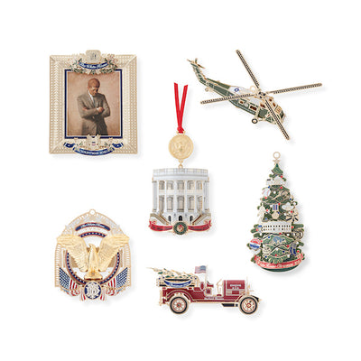 White House Christmas Ornament Set: 2015-2020