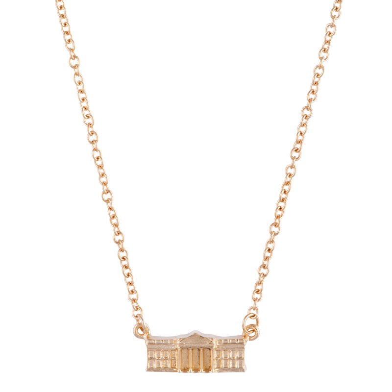 Gold Vermeil White House Charm Necklace