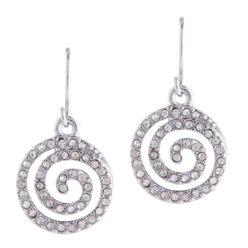Pavé Swirl Earrings