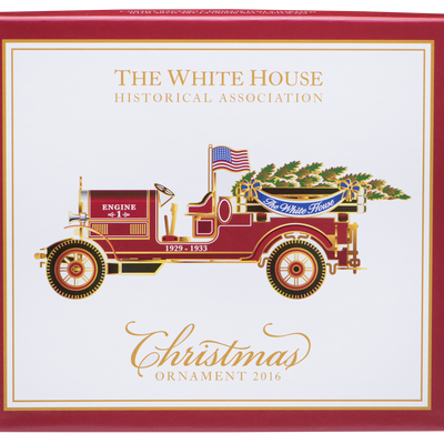 2016 White House Christmas Ornament-Box with Lid