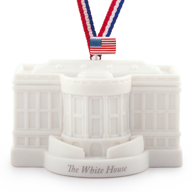Ceramic White House Ornament